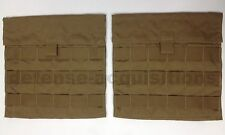 NEW EAGLE INDUSTRIES SPC COYOTE SIDE PLATE POCKET CARRIER SET SPP MOLLE USGI