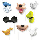 8 Disney Mickey Mouse Birthday Party Favors Gifts Treat Photo Props W/Sticks