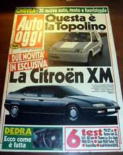AUTO OGGI 1989 - ISOTHERMOS ISOSCOOTER CITROEN XM RIPARARE LE AMMACCATURE - HORK