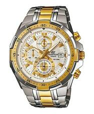 Casio Edifice EFR-539SG-7A Silver Gold Tone Stainless Steel Analog Casual Watch