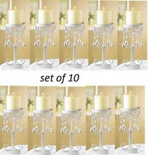 10 white cheap Crystal chandelier candelabra Candle Holder wedding centerpiece