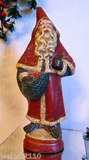RAZ VINTAGE STYLE VICTORIAN SANTA  - MOLDED FROM OLD CHOCOLATE MOLDS.