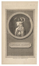 1785 Engraved Portrait of British Army General Eliott