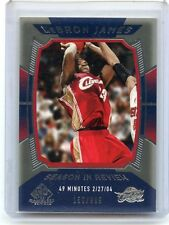 "2004-05 SP GAME USED #157 LEBRON JAMES ""SEASON IN REVIEW"" #150/999, CAVALIERS"