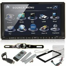 "Camera+7"" Touchscreen Double 2Din In dash Car Stereo Radio Mp3 CD DVD Player"