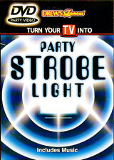 Drew's Famous PARTY STROBE LIGHT: VIRTUAL LIGHT & SOUND SHOW DVD with MUSIC! OOP