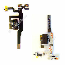 Black Headphone Audio Jack Volume Switch Flex Cable For iPhone 4S 4GS b90