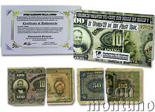 GREECE WANTS TO CUT ITS BILLS IN HALF? Government Torn War Era Drachma Banknotes