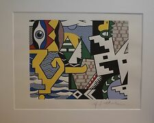 "Roy Lichtenstein "" Pow Wow"" Lithograph plate signed"