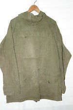 VTG BRITISH OLIVE COTTON ARMY WINDPROOF MOUNTAIN SMOCK PARKA CADET JACKET BG SZ