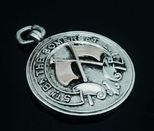 Silver Pocket Watch Fob Medal, Sterling, 5th Bn The Somerset L.I 1930