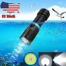 Underwater 100m 5000LM CREE XML L2 LED Scuba Diving Flashlight Torch Waterproof