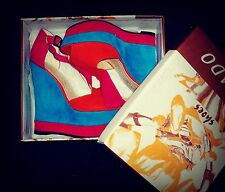 beautiful brand new multi color wedge sandals size 5