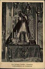 Jerusalem Israel AK 1931 Geißelungssäule in der Grabeskirche Kirche Church AK