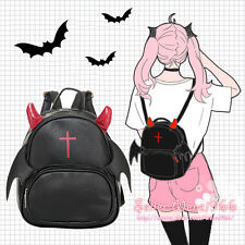 Japanese Harajuku Gothic Lolita Preppy Style Devil Black Backpack Shoulders Bag