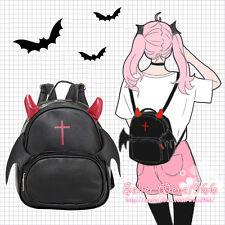 Japanese Harajuku Gothic Lolita Preppy Style Devil Black Backpack Shoulders Bag