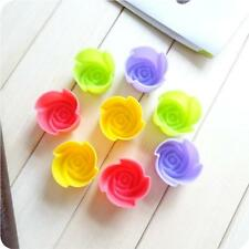 Maker Muffin Jelly Cup Cake Mold Rose Flower Silicone Baking Mould Cookie