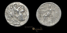 ALEXANDER III THE GREAT ZEUS EAGLE ANCIENT GREEK SILVER TETRADRACHM COIN 027544