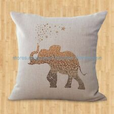 US SELLER- lucky elephant animal cushion cover decorative throw pillow covers