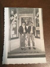 Photograph Photo  Vintage Original 1950's Greaser W/ Leather Jackets