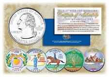 1999 COLORIZED US MINT STATE QUARTERS * Complete Set of 5 Coins * with Capsules