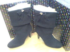 BRAND NEW PLAYBOY WINNIE SUEDE BOOTS BLACK RRP £150 SIZE 6 EURO 39 NEW IN
