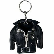 Key Ring Motorcycle Miniature Leather Jacket Black  Biker Key Chain New