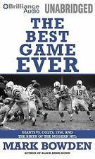 NEW The Best Game Ever : Giants vs. Colts, 1958, and the Birth of the Modern NFL