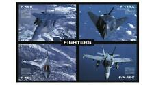 FLUGZEUG AIRPLANE POSTER FIGHTERS F15E F117A F16 F/A18C