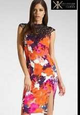"BNWT ""KK KARDASHIAN KOLLECTION ""@ Lipsy Size 6 FLORAL LACE TRIM DRESS £70 New XS"