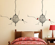 Wall Stickers Bedroom Backdrop Hanging Cages with Birds Living Room Design