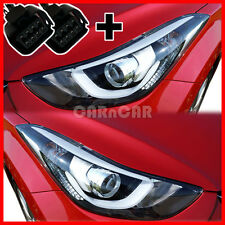 GENUINE AVANTE ELANTRA MD PROJECTION HEAD LAMP LIGHT SET WITH JACK 2011-2015