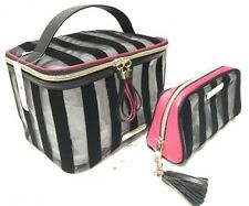Victoria's Secret Hanging Train Travel Case & Cosmetic Bag Black Latest Model.