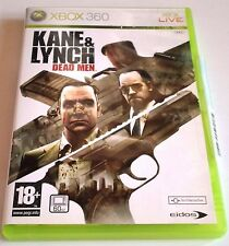 KANE & LYNCH DEAD MEN for Xbox 360 - with box & manual - PAL