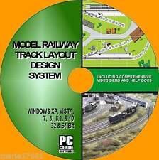 MODEL RAILWAY SIMPLE TRACK LAYOUT DESIGN SOFTWARE OO GUAGE HORNBY Etc NEW PC CD