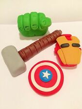 Edible In The Style Of Marvel Superheroes Thor Hulk Cake Topper Icing Decoration