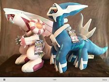 "NEW POKEMON PLUSH JAKK's PACIFIC DIALGA AND PALKIA JUMBO 16"" DIAMOND AND PEARL"