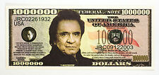 Johnny Cash USA fantasy paper money One Million Dollars Legends Series