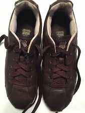 K-swiss Mens Brown Leather Shoes Sz 7