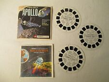 Viewmaster 3 reels Packet Man On The Moon Nasa Appollo Project (B658) Complete