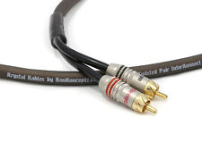 KnuKonceptz Twisted Pair Triple Shielded 2 Channel RCA Cable 6.5ft 2M OFC