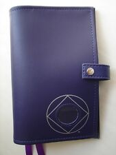 Narcotics Anonymous Deluxe NA Basic Text-How and Why PURPLE  #034;COVER #034; Coin Holder