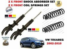 FOR VW TOUAREG + R5 2002-2010 2X FRONT SHOCK ABSORBERS SET + 2X COIL SPRINGS KIT