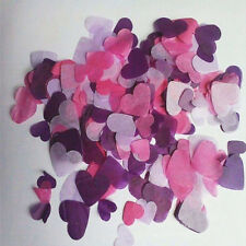 Biodegradable Rainbow Heart Paper Confetti Wedding Party Decorative Supplies