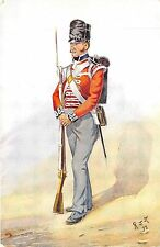 POSTCARD  MILITARY    Private   Ist  Regiment of Foot  1812
