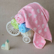 3PCS Newborn Baby Towel Washcloth Bathing Feeding Wipe Cloth Love Hearts Print