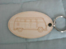 Key Ring, Camper Van, Campervan, VW, Wooden, Laser Cut