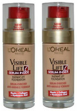 2 X L'Oréal Visible Lift Serum Inside Foundation 30ml- 120 Rosy Porcelain