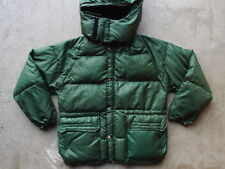 Vintage North Face Brown Label Down Jacket Size S w Hood Nylon Ripstop Tag