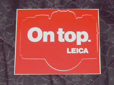 Leica On Top decal